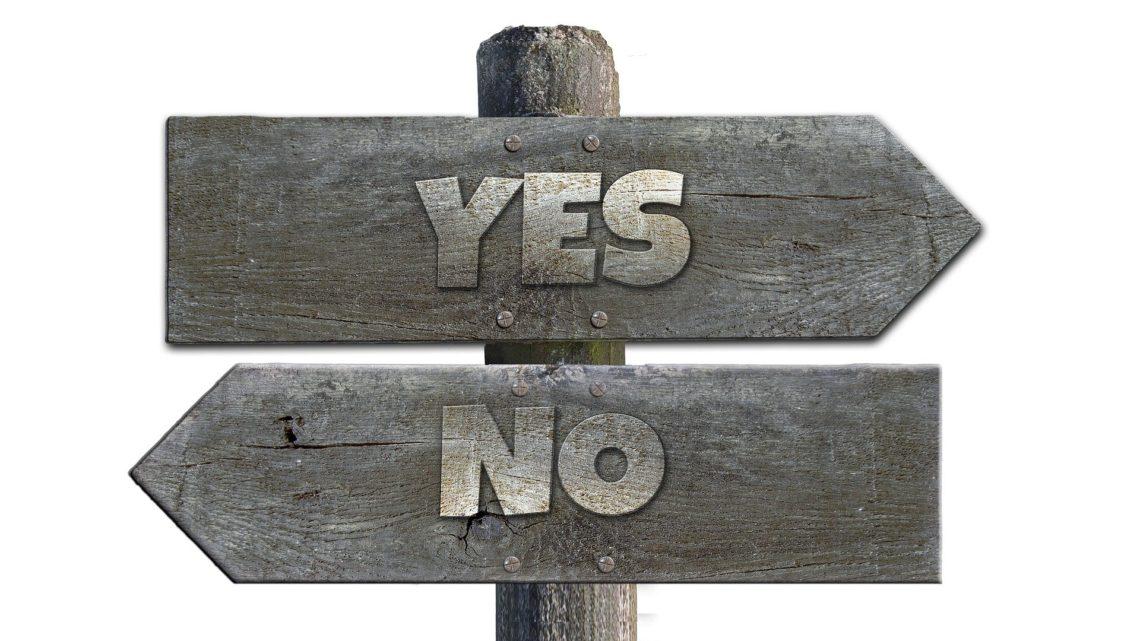 Wegweiser Ja-Nein